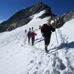 Schneefeldüberquerung