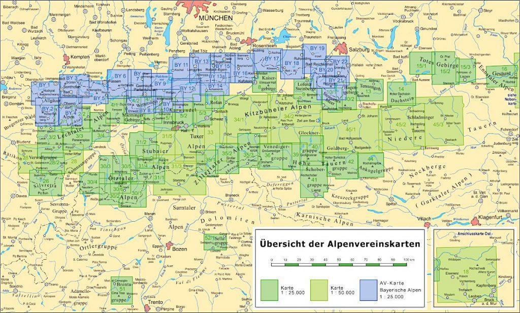 Übersichtskarte AV-Karten