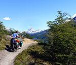 Unterwegs auf einem Wanderweg in der Nähe des Mt. Fitz Roy (Argentinien)